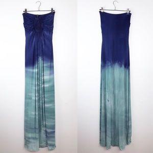 SKY tie dye strapless maxi dress